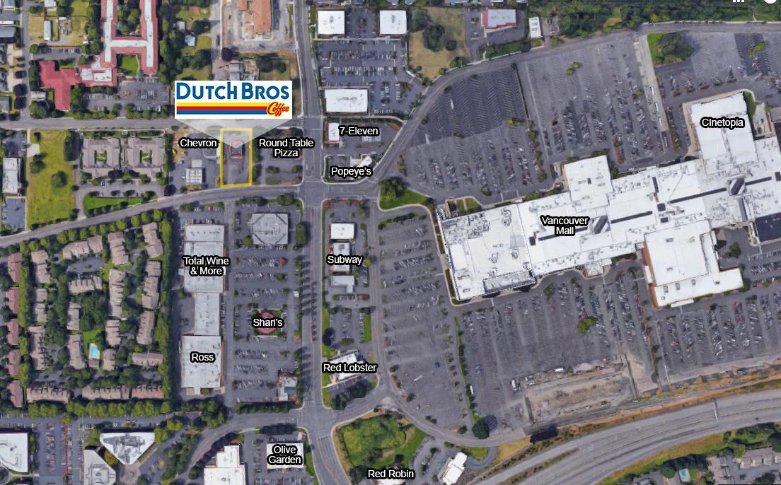 Aerial - Dutch Bros Van Mall Location