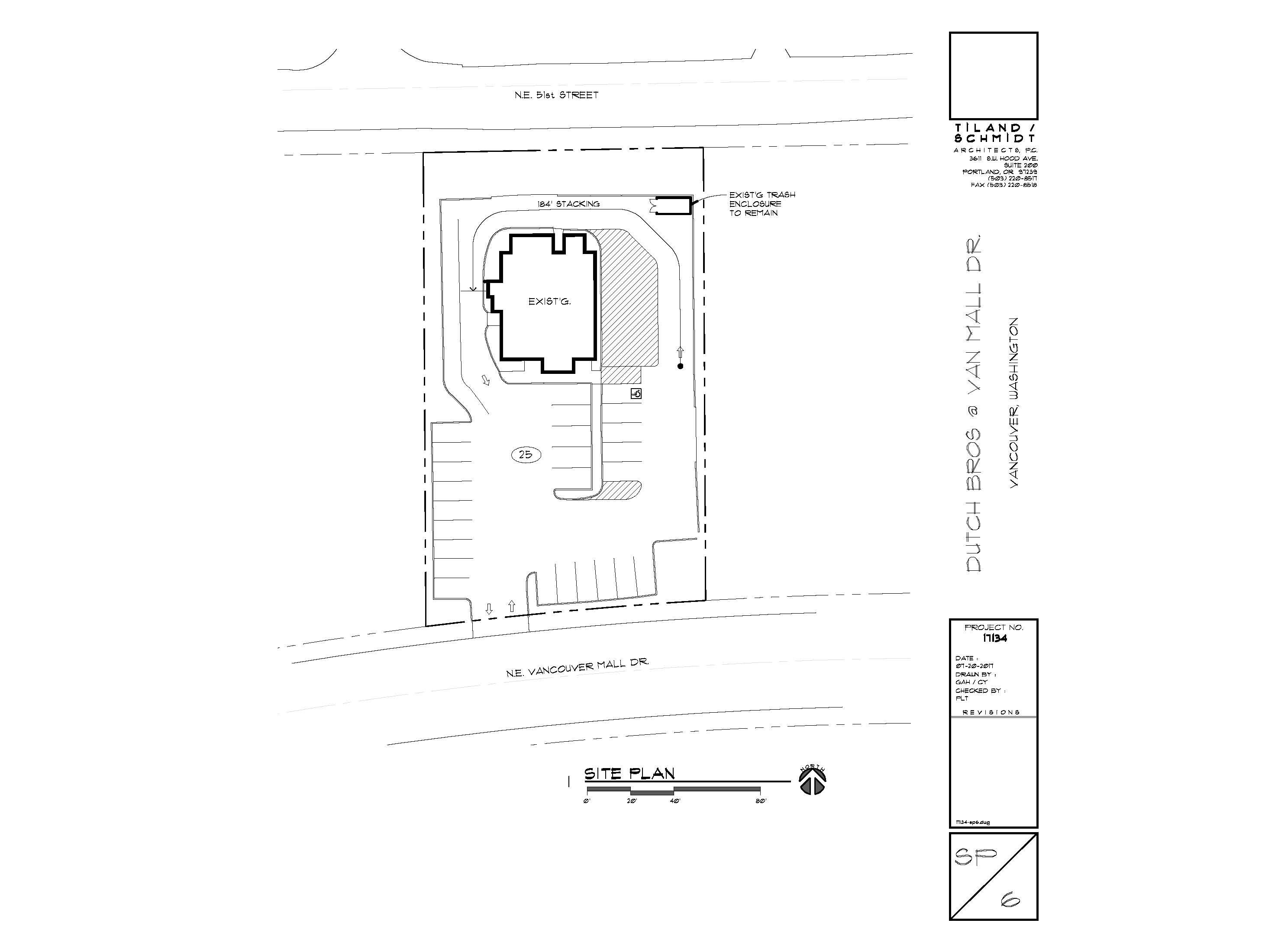Dutch Bros Site Plan - Van Mall Drive